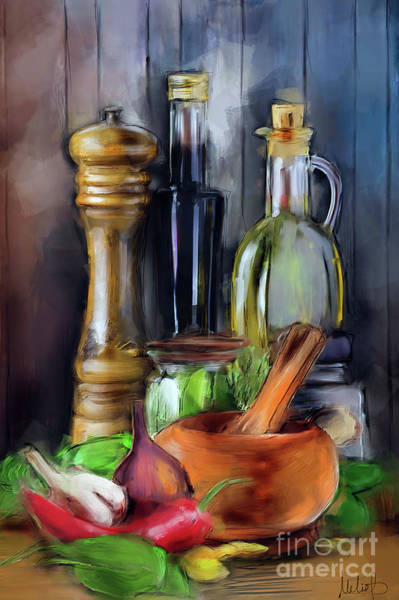 Onion Painting - Salad Dressing by Melanie D