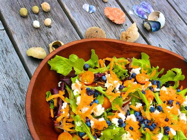 Photograph - Salad With Maine Blueberries by Polly Castor