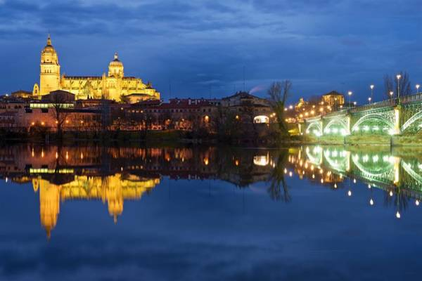 Photograph - Salamanca Cathedral At Night by Stephen Taylor