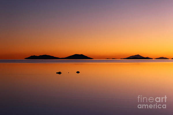 Photograph - Salar De Uyuni Sunset by James Brunker