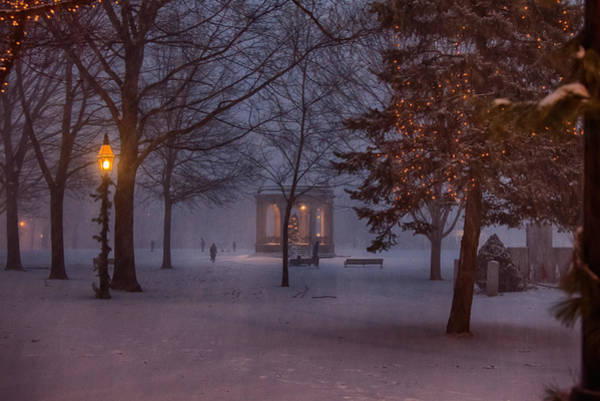 Pickering Photograph - Salem Bandstand As Snow Falls by Jeff Folger