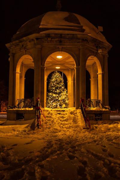 Photograph - Salem Bandstand At Christmas by Jeff Folger