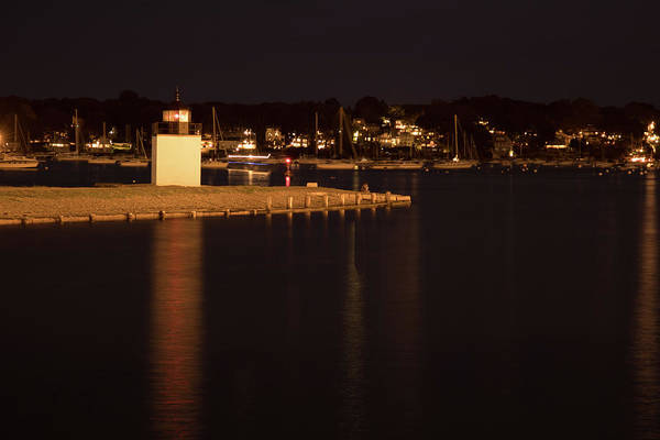 Photograph - Salem Harbor At Night by Jeff Folger