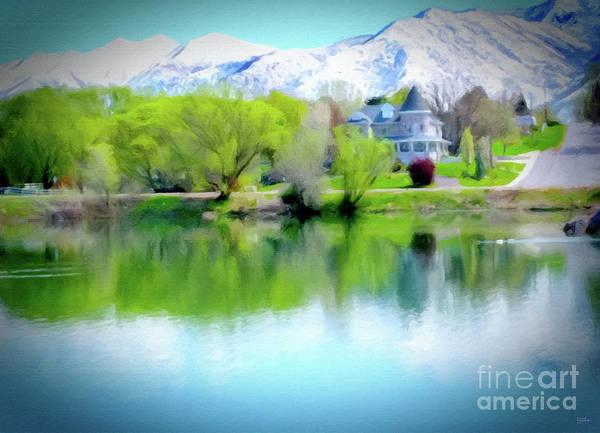 Digital Art - Salem Lake Utah by David Millenheft