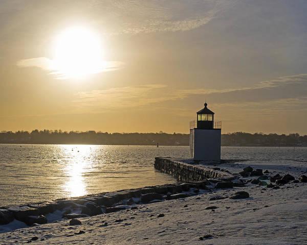 Photograph - Salem Ma Derby Light Winter Sunrise by Toby McGuire