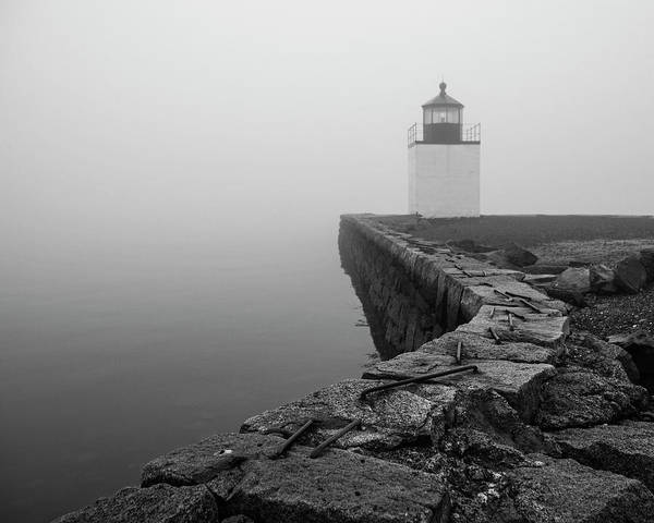Wall Art - Photograph - Salem Ma Derby Wharf In Heavy Fog by Toby McGuire