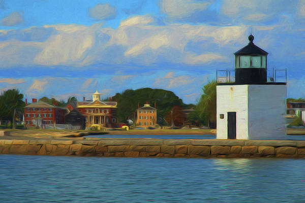 Photograph - Salem Maritime Waterfront In Digital Art by Jeff Folger
