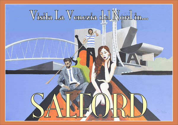 Bbc Painting - Salford Poster by Eric Jackson