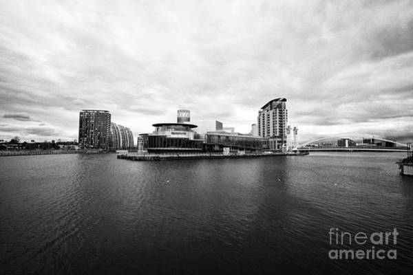 Manchester Skyline Wall Art - Photograph - salford quays on a dull overcast day Manchester uk by Joe Fox