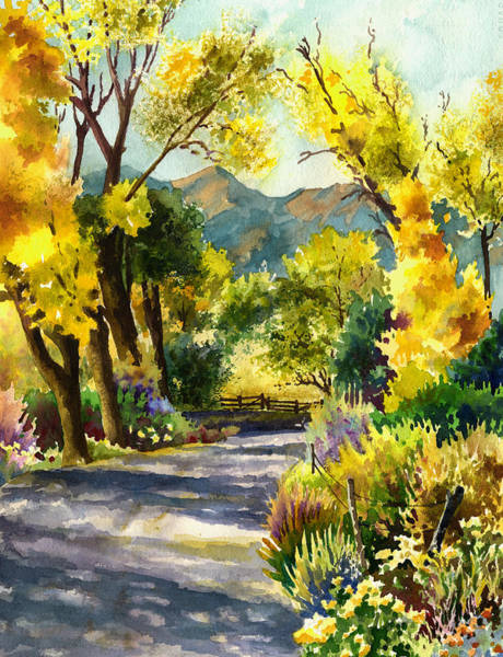 Rocky Wall Art - Painting - Salida Country Road by Anne Gifford