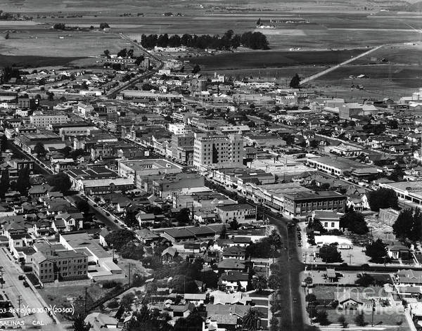 Photograph - Salinas Downtown	Aerial	 Sept 1930 by California Views Archives Mr Pat Hathaway Archives