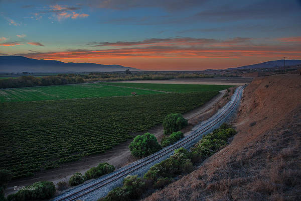 East County Photograph - Salinas Valley At Sunset by Bill Roberts