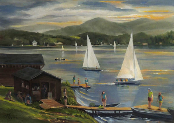Sailing At Lake Morey Vermont Art Print