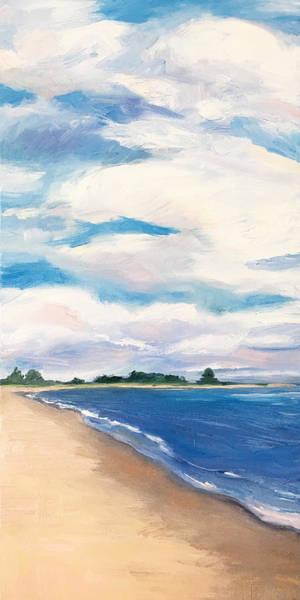 Wall Art - Painting - Salisbury Beach Vertical by Leslie Alfred McGrath