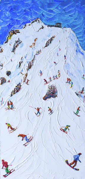Snowboard Wall Art - Painting - Saliure Meribel And Courchevel by Pete Caswell