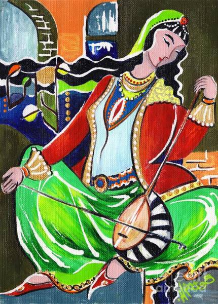 Wall Art - Painting - Sallaneh And Its Player by Elisabeta Hermann