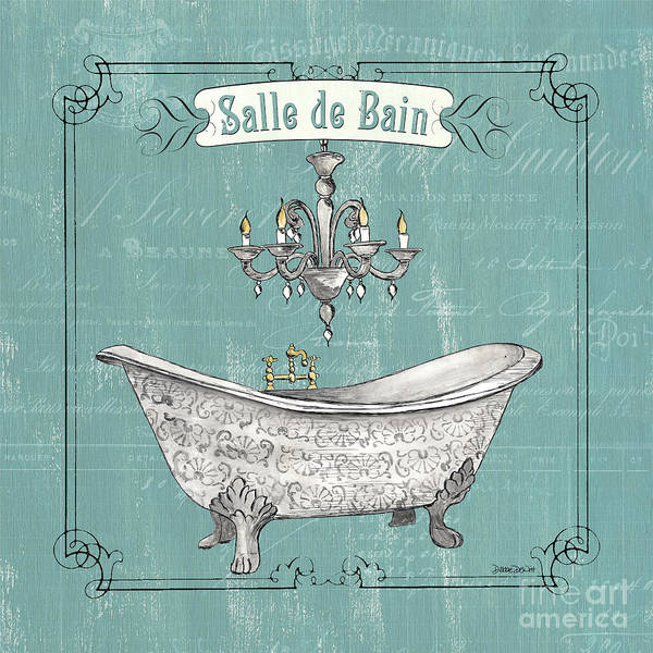 Tub Wall Art - Painting - Salle De Bain by Debbie DeWitt