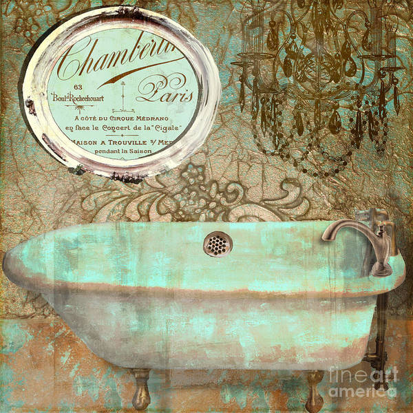 Tub Wall Art - Painting - Salle De Bain I by Mindy Sommers