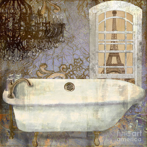 Wall Art - Painting - Salle De Bain IIi by Mindy Sommers