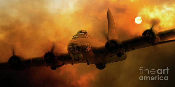 Wall Art - Digital Art - Sally B - Fire by J Biggadike