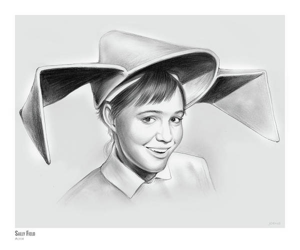 Actress Drawing - Sally Field by Greg Joens