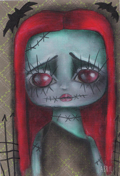 Tim Burton Wall Art - Painting - Sally Girl by Abril Andrade Griffith