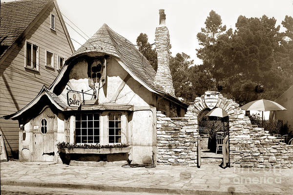 Photograph - Sally's Tea Room Now The Tuck Box Carmel Cal. Circa 1928 by California Views Archives Mr Pat Hathaway Archives