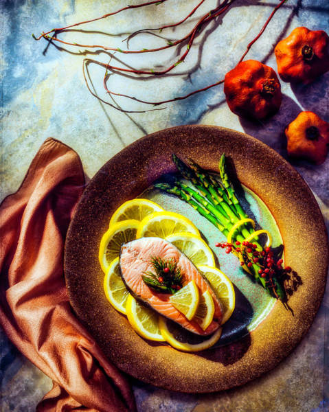 Wall Art - Photograph - Salmon Dinner by Garry Gay