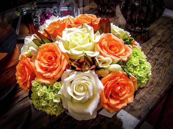 Photograph - Salmon Rose Bouquet by Gene Parks