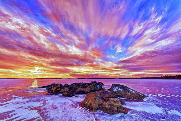 Photograph - Salmon Sunrise by ABeautifulSky Photography by Bill Caldwell