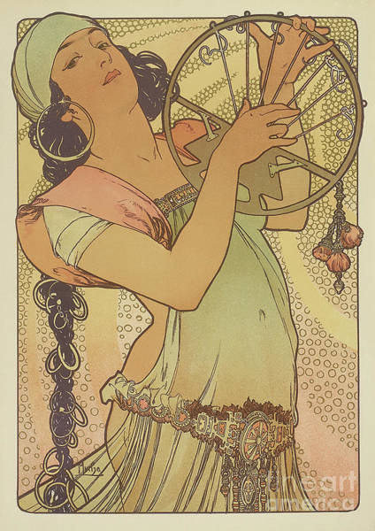 Wall Art - Painting - Salome, 1897 by Alphonse Marie Mucha