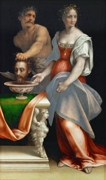 Cesare Painting - Salome With The Head Of John The Baptist by Cesare da Sesto