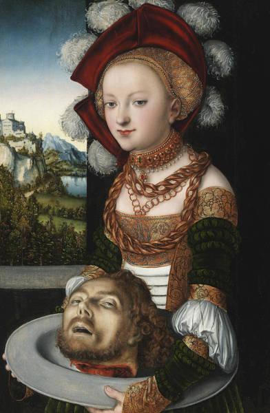 Cranach Painting - Salome With The Head Of Saint John The Baptist by Lucas Cranach the Elder