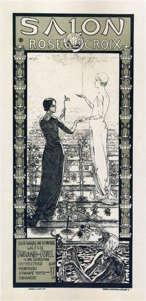 Wall Art - Mixed Media - Salon De La Rose Croix - Vintage French Exposition Poster By Carlos Schwabe by Studio Grafiikka