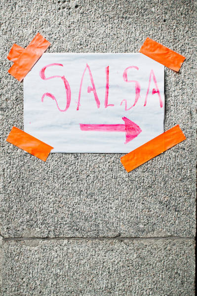 Class Photograph - Salsa Sign by Tom Gowanlock