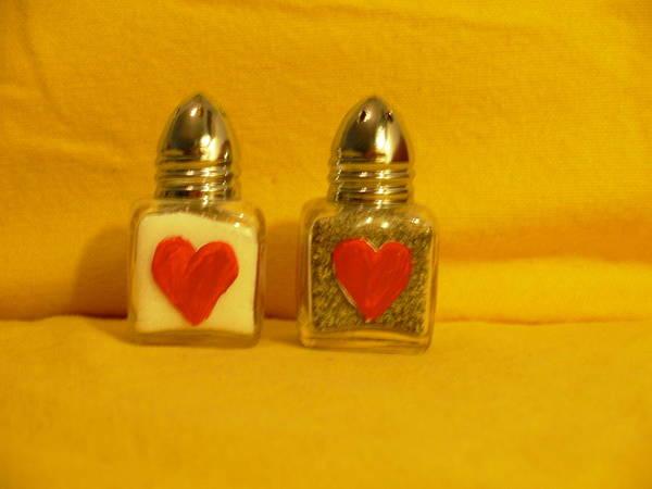 Glass Art - Salt And Pepper Shakers by Sophia Landau