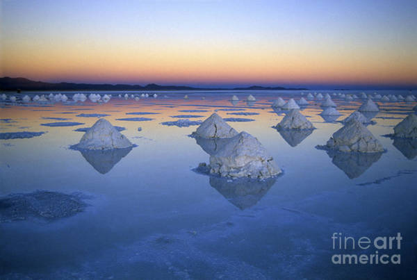 Photograph - Salt Cones At Sunset by James Brunker