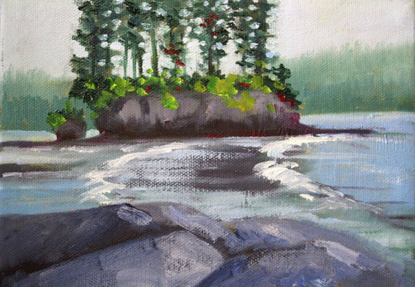 Wall Art - Painting - Salt Creek View by Nancy Merkle