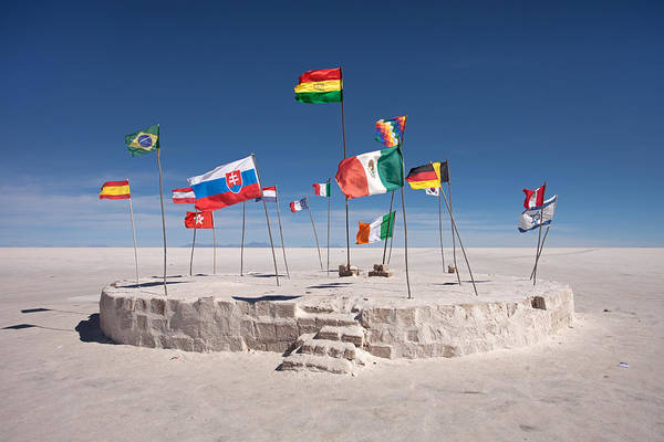 Photograph - Salt Hotel Flags by Aivar Mikko