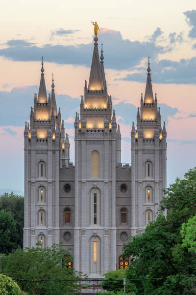 Art Print featuring the photograph Salt Lake City Temple Morning by Dustin  LeFevre