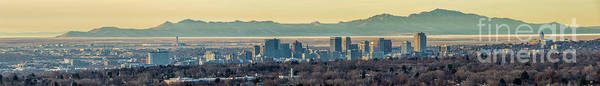 Photograph - Salt Lake City With Antelope Island by Spencer Baugh