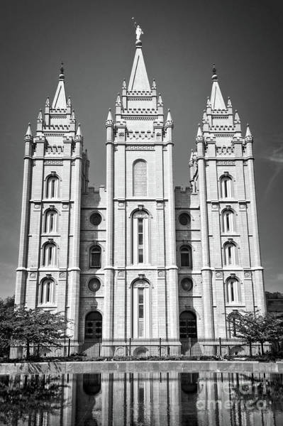Wall Art - Photograph - Salt Lake Temple by Delphimages Photo Creations