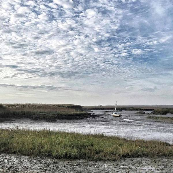 Transportation Photograph - Salt Marsh And Creek, Brancaster by John Edwards