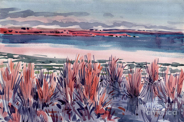 Mono Painting - Salt Marsh by Donald Maier