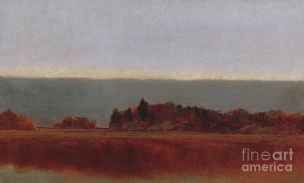Wall Art - Painting - Salt Meadow In October, 1872 by John Frederick Kensett