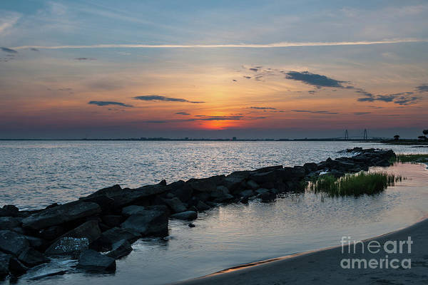 Photograph - Salt Water Sunset Over Sullivan's Island Sc by Dale Powell