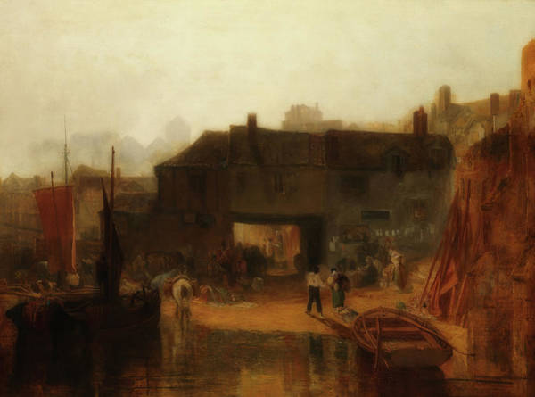 Ashes Painting - Saltash With The Water Ferry, Cornwall by Joseph Turner