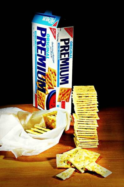 Wall Art - Photograph - Saltine Crackers by Diana Angstadt