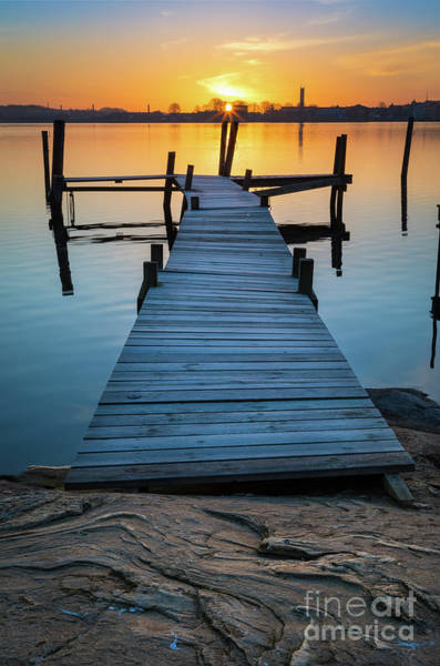 Sverige Photograph - Salto Isalnd Dock by Inge Johnsson