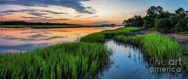 Photograph - Saltwater Marsh Summer Sunrise by David Smith